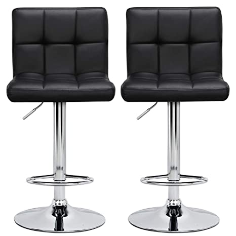 Fabulous Amazon Com Topeakmart 2Pcs Adjustable Modern Bar Stools Cjindustries Chair Design For Home Cjindustriesco