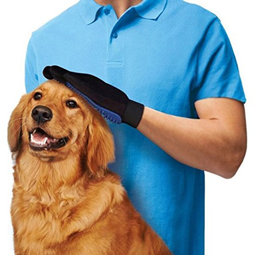 Richi Pet Dog Cat Deshedding Cleaning Brush Glove Massage Hair Removal Grooming Hand