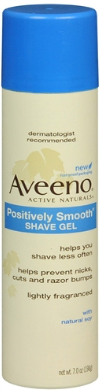 AVEENO Positively Smooth Shave Gel 7 oz (3 Pack)