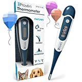 iProvèn Pet Thermometer (Termometro) for Accurate Fever Detection - Suitable for Cats/Dogs - Waterproof Pet Thermometer - Fast Readings Cat Thermometer/Dog Thermometer - DT-K117A 2019