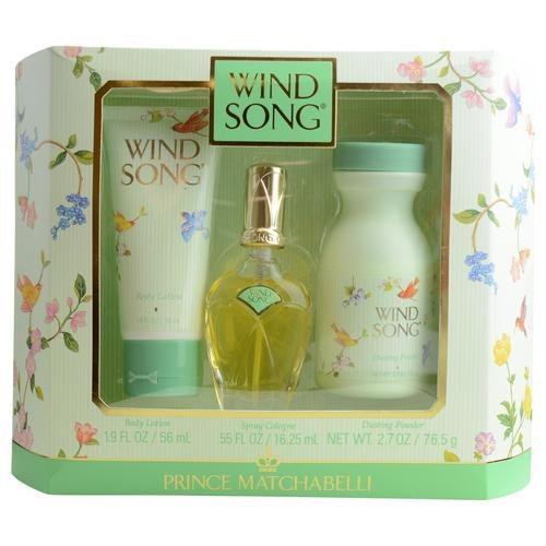 Wind Song by Prince Matchabelli for Women 3 Piece Set Includes: 0.55 oz Cologne Spray + 1.9 oz Body Lotion + 2.7 oz Dusting Powder by Prince Matchabelli