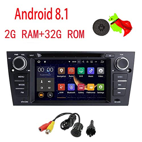 MCWAUTO for BMW E90/2006-2011 BMW E91/2006-2011 BMW E92/2006-2011 BMW E93 Android 8.1 Quad Core 7 Inch Car Stereo Multi-Touch Screen Radio CD DVD Player 2 DIN 1080P Video Screen