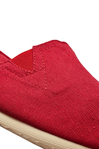 next Herren Canvas-Slipper Rot