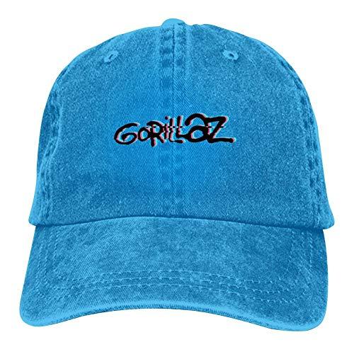 Unisex G-orillaz Virtual Band Music Videos Rock Hip Hop Logo Hip Hop Baseball Cap Adjustable Cowboy Hat Blue