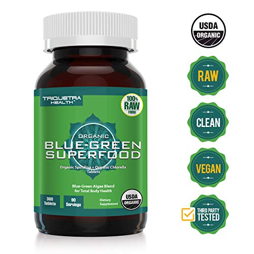 Organic Spirulina Chlorella Certifications Antioxidants product image