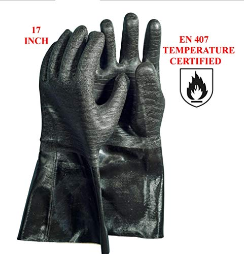 Artisan Griller Insulated Heat Resistant Cooking Gloves – 17 in.