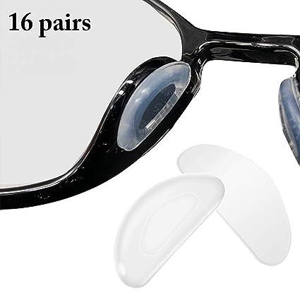 Fansport 16 Pairs Brillen Nose Pad Klebstoff Silikon Eyewear Nose Pad