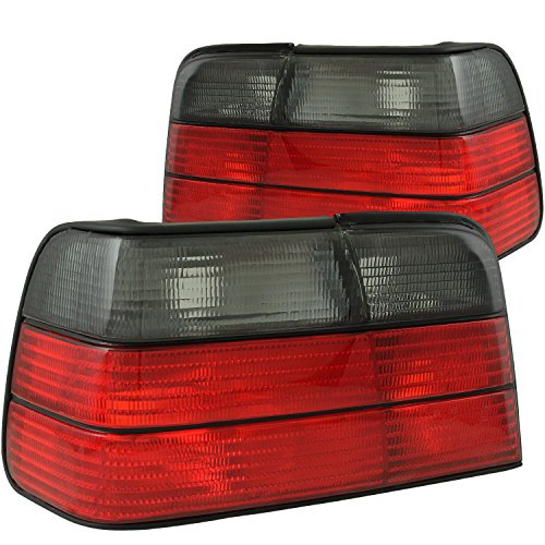 AnzoUSA 221200 Red/Smoke Taillight for BMW 3 Series - (Sold in (Euro Altezza Carbon Fiber)