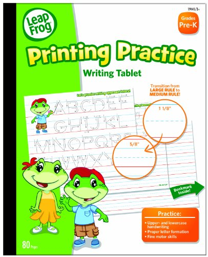 LeapFrog Printing Practice Writing Tablet with Ruled Guidelines for Grades Pre-K 80 Sheets per Pad (19441)
