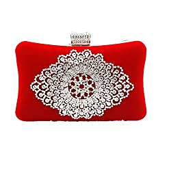 Rhinestone Crystal Suede Clutch for Women