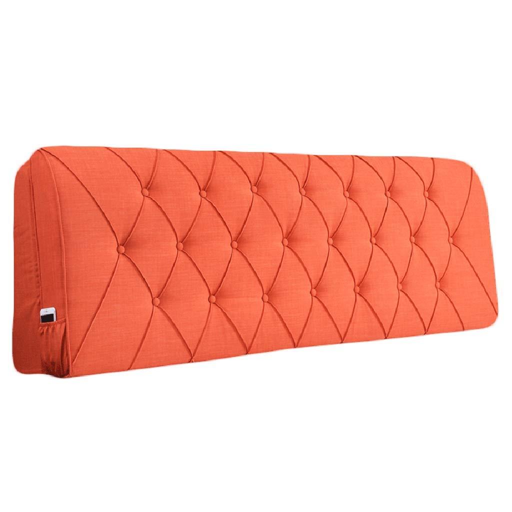 高質で安価 ベッドサイド ベッドサイド クッション用ヘッドボードベッドサイド背もたれ大型枕ソファ布張り腰パッド、8サイズ、8色 B07RHCP5JR (色 : 185x10x60cm オレンジ, サイズ さいず : 160x10x60cm) B07RHCP5JR 185x10x60cm|オレンジ オレンジ 185x10x60cm, SAARISERKA:4f71249c --- ailesburyhairclinic-com.access.secure-ssl-servers.org