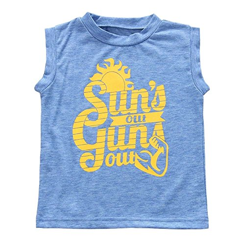 Baorong Toddler Baby Boys Sun's Out Guns Out Tank Top Sleeevless Blue T Shirt 2 Years]()