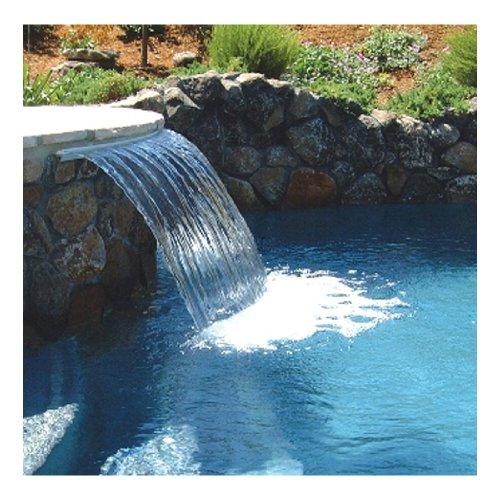Zodiac 1101G 1-Feet Back Feed Sheer Descent Waterfall with 1-Inch Light Gray Standard Lip