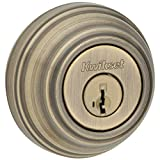 Kwikset 980 Single Cylinder Deadbolt featuring SmartKey in Antique Brass
