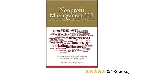 Amazon.com: Nonprofit Management 101: A Complete and Practical Guide ...