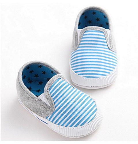 Recién nacido niños niñas zapatos Sneaker suave suela zapatos de bebé rojo rosso Talla:12-18 meses azul