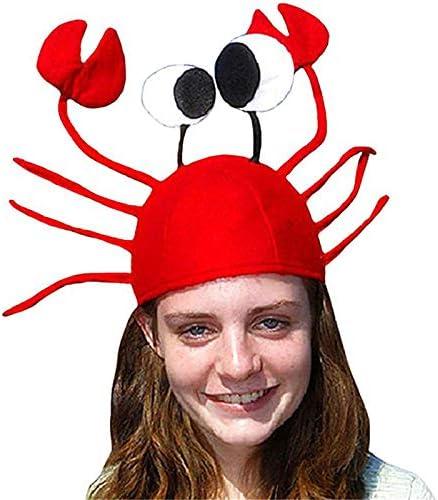Gorro de Halloween con forma de cangrejo rojo de Navidad ...