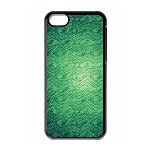 XiFu*Meiiphone 4/4s Case,Green Curly Infinite Pattern Hard Shell Back Case for Black iphone 4/4s Okaycosama371584XiFu*Mei