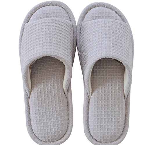 Flip Flop Summer Slippers Travel Drag The Anti-Slip Bath Slippers Cotton Home Slippers Ladies Couple Cool Slippers (2 Colors Optional) (Size Optional) A kbdiqoKI