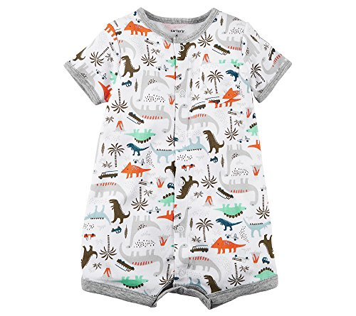 Carter's Baby Boys' Dino Print Snap Up Romper 12 Months