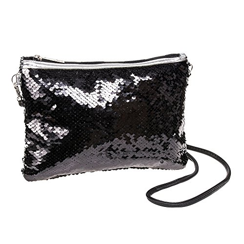 Black Way Blue Two Blue Banana Bag Black Banana Two Banana Clutch Bag Clutch Sequin Blue Sequin Way 7a7rAq