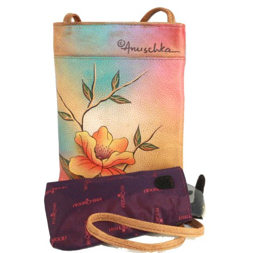 Handpainted Small Genuine Leather Bag Anuschka Flying Jewels Travel Companion 4wZBZdq