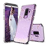 Galaxy S9 Plus Case, Galaxy S9 Plus Case for Girls, MOSNOVO Cherry Blossom Floral Printed Flower Pattern Clear Design Back Case with TPU Bumper Case Cover for Samsung Galaxy S9 Plus