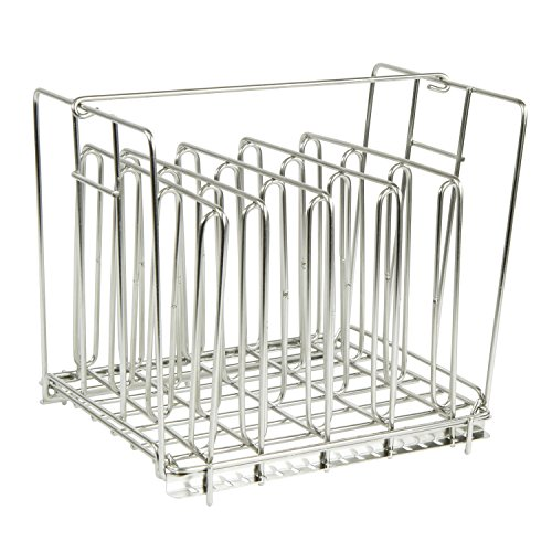 Houseables Sous Vide Rack, Food Holder Weight, 9 x 7 Inch, Stainless Steel, 5 Dividers, Fits 12 Quart Container, Even Heating Accessories, Holding Grid, No Float Top Bar, Adjustable, Collapsible by Houseables