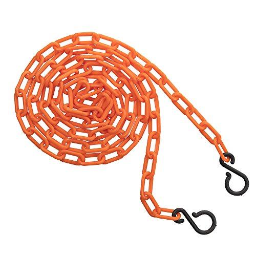 Stanchion Chain (US Weight ChainBoss 2-Inch Plastic Chain – 10 Feet – Orange)