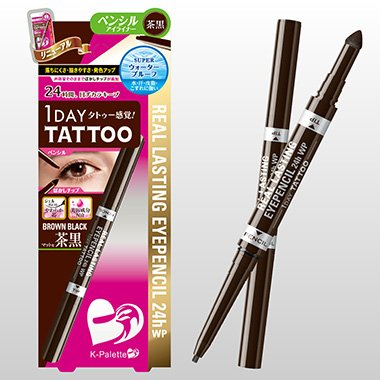 K Palette 1 Day Tattoo Real Lasting Eye Pencil Brown Black