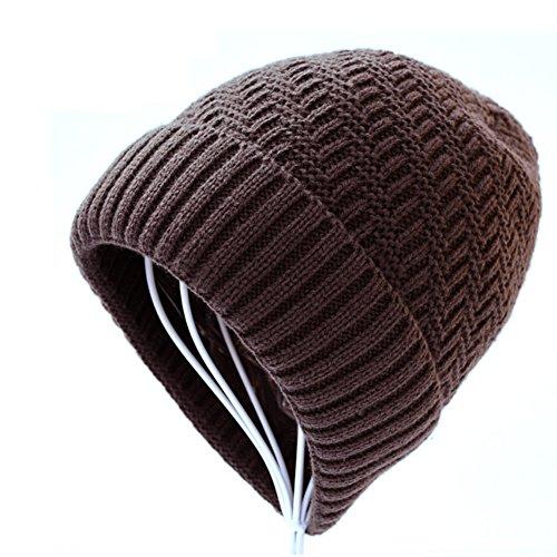 de C de Sombrero de punto el Sombreros grueso Los gorro de hombres invierno moda lana Añadir Cachemira BSRaqngx