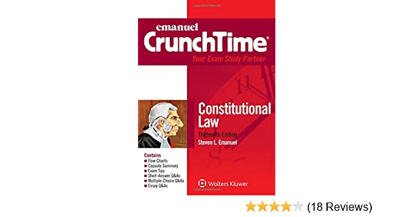 Amazon Crunchtime Constitutional Law Emanuel Crunchtime