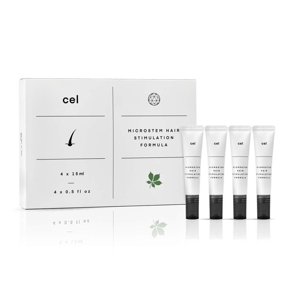 Cel Microstem Hair Stimulation Formula | Hair Serum for Rapid Thicker Fuller Hair | Stem Cell Technology - Asparagus, Biotin, Keratin and Castor Oil Packs