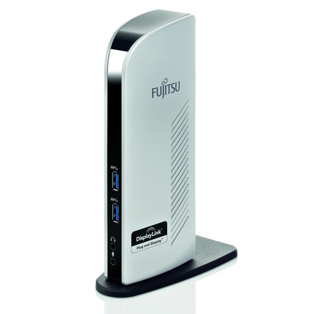 Fujitsu PR08 USB 3.0 Port Replicator with Dual Monitor Output Silver