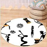 Best Tea Time Mouse Traps - VROSELV Custom carpetAfro Decor Several Ethno Tribal Figure Review