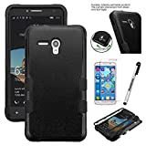 "JITTERBUG SMART (5.5"" SCREEN) Case ; JITTERBUG SMART [Heavy Duty] [Shock Absorption] [Drop Protection] [Hybrid Armor] Rugged Impact Phone Tuff Cover + Screen Protector & Stylus (BLACK/BLACK)"