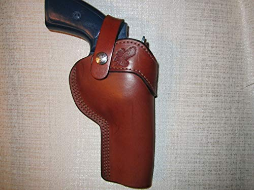 Braids Holsters Brown Owb Revolver Holster with Strap, Choose Gun & R or L Hand (Left Ruger Gp100 4