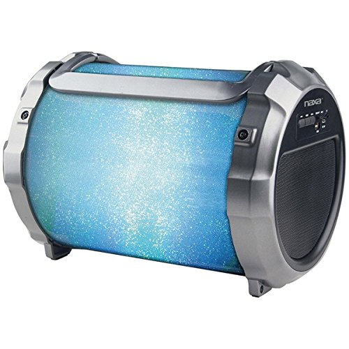 Naxa Electronics NAS-3088 Boomer Impulse Flasher Bluetooth Boombox with LED, Lights Black