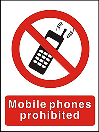 Do Not Use Mobile Phones Sign 150mm x 200mm Self Adhesive Vinyl