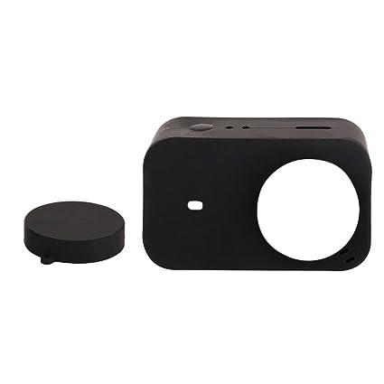 Sharplace Carcasa de Silicona Tapa de Lente Accesorios para Mijia Mini 4k Cámara de Acción Negro