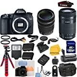 Canon EOS 70D Digital SLR Camera Body with Canon 18-135mm IS STM Standard Zoom Lens 33rd Street Bundle with Canon 55-250 IS STM Zoom Lens + 3pc Flash Diffuser Set + Deluxe Camera Case + 32GB Memory + 18pc Accessory Kit