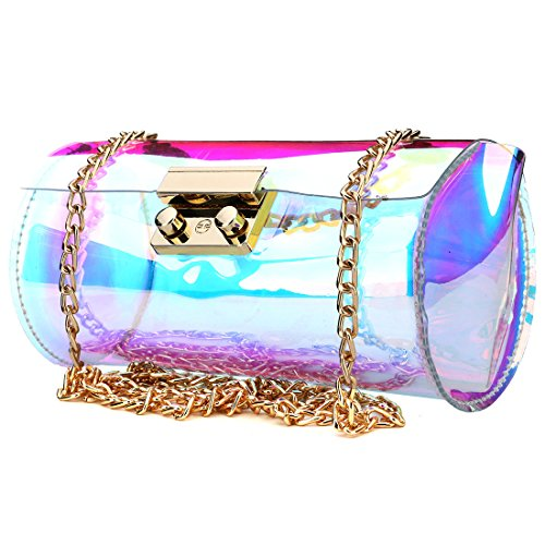 Sling Laser Swimming Clear bag Waterproof Women's Shining Hologram Cross bag Purse Body Style1 Beach Transparent x0adqHFwd