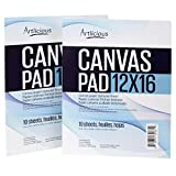 Artlicious - 12x16 Canvas Pads, 10 Sheets, 100% Duck Canvas, Triple Primed, Alternative to Stretched Canvas, Panels or Boards (2 Pads)