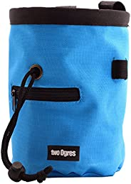 two Ogres Essential-Z Climbing Chalk Bag with Belt and Zippered Pocket for Climbing, Gymnastics, Weight Liftin