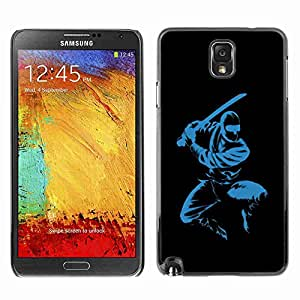 Planetar® ( Blue Ninja ) Fundas Cover Cubre Hard Case Cover Samsung Galaxy Note 3 III / N9000 / N9005