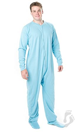 4271353855 Amazon.com  Footed Pajamas - Baby Blue Adult Cotton Onesie - Double ...