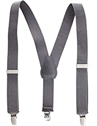 """Suspenders for Kids Boys and Baby - Premium 1 Inch Suspender Perfect for Tuxedo - Grey (30"""")"""