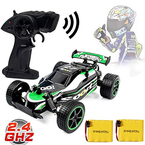Blexy RC Racing Cars 2.4Ghz High Speed Radio Remote Control Car 1:20 2WD Racing Toy Cars Electric Vehicle Fast Race Buggy Hobby Car Green - Race H&r