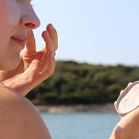 Protector Solar Natural Suntribe - Cara & Deporte - FPS 30 - Resistente al agua - Óxido de zinc (filtro UV mineral) - Seguro para arrecifes - 4 ingredientes - CACAO (45 g)