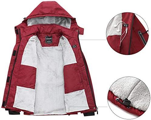 MDENOVO Women's Mountain Ski Jacket Waterproof Fleece Snowboard Winter Rain Coat